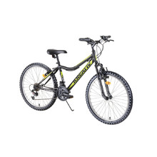 "Juniorský horský bicykel Kreativ 2404 24"" - model 2019 - Black"