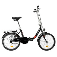 "Skladací bicykel DHS Folder 2092 20"" - model 2019 - Black"