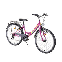 "Juniorský bicykel Kreativ 2414 24"" - model 2019 - Violet"