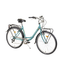 "Mestský bicykel DHS Citadinne 2634 26"" - model 2021 - Turquoise"