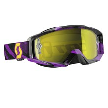 Moto okuliare SCOTT Tyrant - zebra purple-yellow-yellow chrome bc76be4e0da