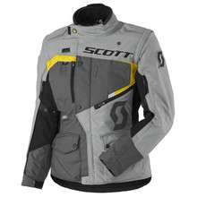 Dámska moto bunda SCOTT W's Dualraid DP MXVII - grey-yellow