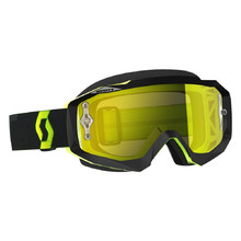 Moto okuliare SCOTT Hustle MX CH MXVII - black-fluo yellow-yellow chrome