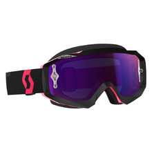 Moto okuliare SCOTT Hustle MX CH MXVII - black-fluo pink-purple chrome