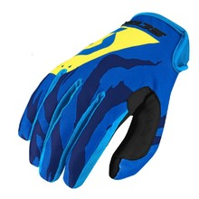 Moto a cyklo rukavice SCOTT 350 Race MXVII - blue-yellow