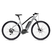 "Dámsky crossový elektrobicykel Ghost Hybride Square Cross B2.9 Ladies 29"" - model 2020 - Iridium Silver / Jet Black"