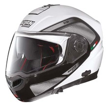 Moto prilba Nolan N104 Absolute Tech N-Com - Metal White