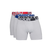 Pánské boxerky Under Armour Charged Cotton 6in 3 Pack - Mod Gray Medium Heather