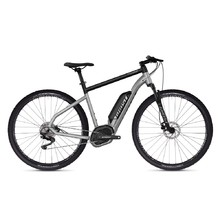 "Crossový elektrobicykel Ghost Hybride Square Cross B2.9 29"" - model 2020 - Iridium Silver / Jet Black"