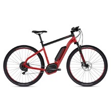 "Crossový elektrobicykel Ghost Hybride Square Cross B4.9 29"" - model 2019 - Riot Red / Jet Black"