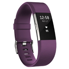 Fitness náramok FITBIT Charge 2 Plum Silver