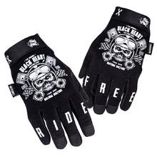 687dbb5a5dfd5 Moto rukavice W-TEC Piston Skull - čierna