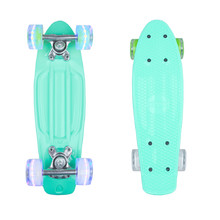 "Mini pennyboard WORKER Pico 17"" so svietiacimi kolieskami - modrá"