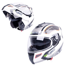Moto prilba W-TEC NK-839 - S-Cape White Red