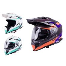 736e5416ae1c4 Moto prilba W-TEC V331 - čierno-modro-oranžová