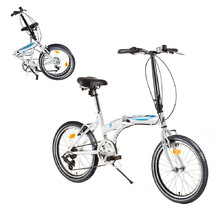 "Skladací bicykel DHS Folder 2095 20"" - model 2017 - White-Blue"