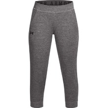 Dámske legíny Under Armour Featherweight Fleece Crop - Charcoal Medium Heather