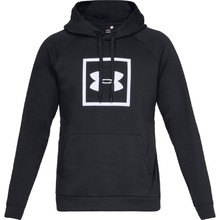Pánska mikina Under Armour Rival Fleece Logo Hoodie - Black/White