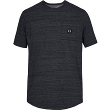 Pánske tričko Under Armour Sportstyle Pocket TEE - Black /  / Steel