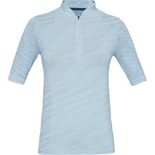 Dámske tričko s límčekom Under Armour Seamless Zip Polo - Coded Blue