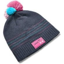 Dievčenská čiapka Under Armour Girl's Triple Scoop Beanie - Downpour Gray