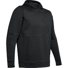 Pánska mikina Under Armour Athlete Recovery Fleece Graphic Hoodie - Black