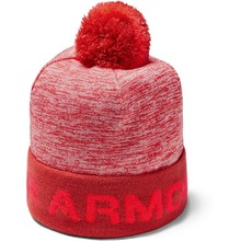 Chlapčenská čiapka Under Armour Boy's Gametime Pom Beanie - Martian Red