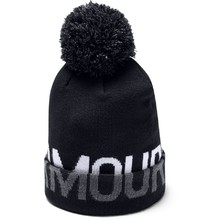 Dámska čiapka Under Armour Graphic Pom Beanie - Black