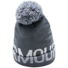 Dámska čiapka Under Armour Graphic Pom Beanie - Downpour Gray