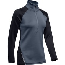 Dámske termo tričko Under Armour UA CG Armour 1/2 Zip Color Block - Black