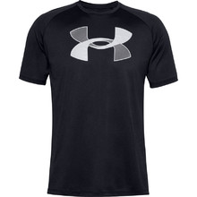 Pánske tričko Under Armour Big Logo Tech SS - Black