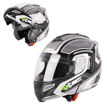 Moto prilba W-TEC NK-839 - S-Cape Black Grey