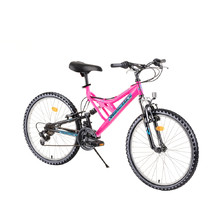 "Juniorský bicykel Reactor Freak 24"" - model 2018 - ružová"