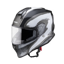 Moto prilba W-TEC Integra Graphic - black-white