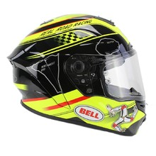 Moto helma BELL Star Isle Of Man black-yellow - čierno-žltá