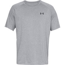 Pánske tričko Under Armour Tech SS Tee 2.0 - Steel Light Heather/Black