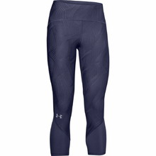 Dámske kompresné 3/4 legíny Under Armour W Fly Fast Jacquard Crop - Blue Ink