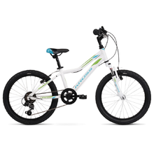 "Detský bicykel Kross Lea Mini 2.0 20"" - model 2020 - White / Blue / Green Glossy"