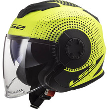 Moto prilba LS2 OF570 Verso - Spin Matt Hi Vis Yellow