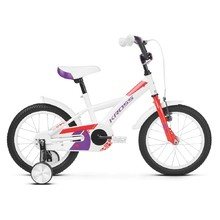 "Detský bicykel Kross Mini 3.0 16"" - model 2019 - White / Red / Violet Glossy"