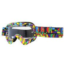 26afe122a Motokrosové okuliare junior W-TEC Benford s grafikou - farebná grafika