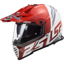 Moto prilba LS2 MX436 Pioneer Evo - Evolve Red White