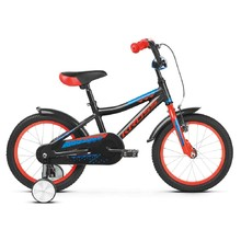"Detský bicykel Kross Racer 4.0 16"" - model 2019 - Black / Red / Blue Glossy"