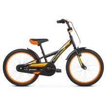 "Detský bicykel Kross Racer 5.0 20"" - model 2019 - Black / Yellow / Orange Glossy"