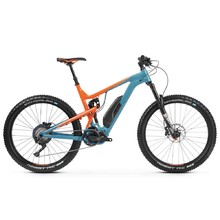 "Celoodpružený elektrobicykel Kross Soil Boost 2.0 SE 27,5"" - model 2019 - Blue / Orange Glossy"