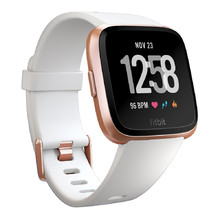 Inteligentné hodinky Fitbit Versa White Band/Rose Gold Case