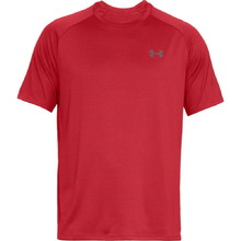 Pánske tričko Under Armour Tech SS Tee 2.0 - Red/Graphite