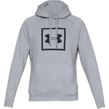 Pánska mikina Under Armour Rival Fleece Logo Hoodie - Steel Light Heather/Black
