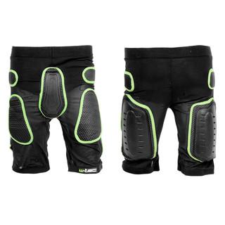 Kraťasy s protektormi W-TEC Xator - čierno-zelená