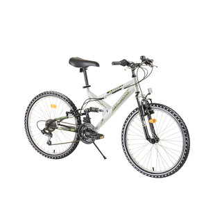 "Juniorský celoodpružený bicykel Reactor Fox 24""  - model 2020 - White"